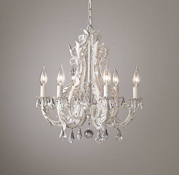 2017 Small Rustic Crystal Chandeliers In Palais Small Chandelier Rustic White (View 1 of 10)