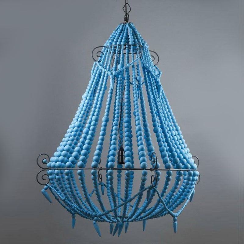 Featured Photo of Turquoise Blue Beaded Chandeliers