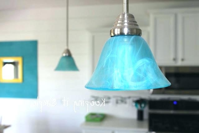 2017 Turquoise Gem Chandelier Lamps Inside Turquoise Chandelier Light Also Best Of Turquoise Light Fixture Or (View 1 of 10)