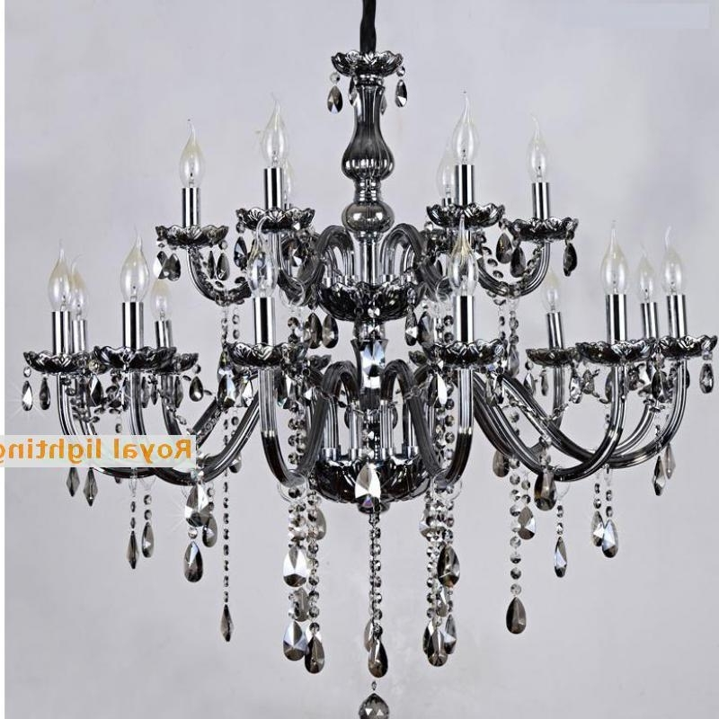 2018 Black Glass Chandelier For Salon Bar Black Glass Chandelier Restaurant Professional Lighting  (View 1 of 10)