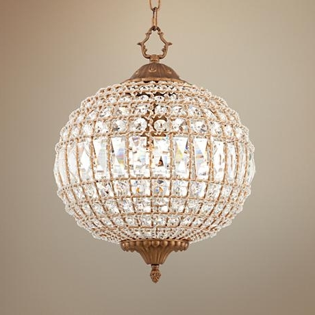 2018 Bring Sparkle To Your Space With This Glamorous Crystal Globe Within Crystal Globe Chandelier (View 3 of 10)