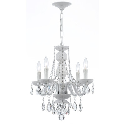 2018 Buy Envogue 4 Light Crystal Chandelier Crystal Grade: Spectra Intended For 4 Light Crystal Chandeliers (View 2 of 10)