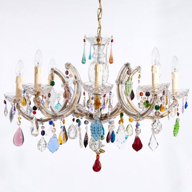 2018 Coloured Chandeliers For Multi Coloured Chandelier Eclectic Chandeliers London Funky (View 1 of 10)