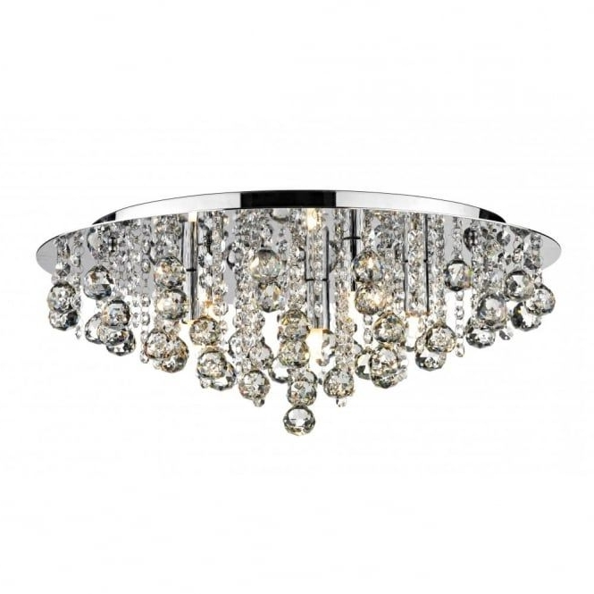 2018 Crystal Flush Chandelier For Low Ceiling Buy Online (View 1 of 10)
