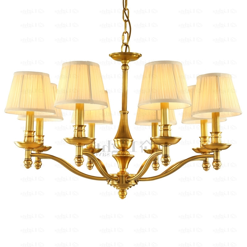 2018 High End 8 Light Large Brass Chandelier For Dinning Room For Large Brass Chandelier (View 2 of 10)