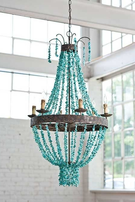 2018 Home Design : Outstanding Turquoise Crystal Chandelier Home Design Intended For Large Turquoise Chandeliers (View 1 of 10)