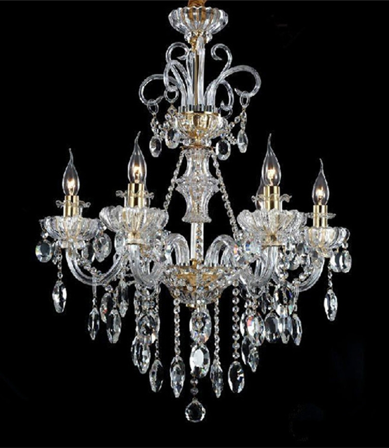2018 Italy Style Restaurant Crystal Chandelier 6 Lights Modern Candle Led With Regard To Italian Chandeliers Style (View 1 of 10)