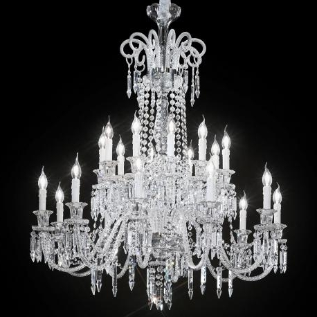 "2018 Large Glass Chandelier Pertaining To Cima"" Large Venetian Crystal Chandelier – Murano Glass Chandeliers (View 3 of 10)"
