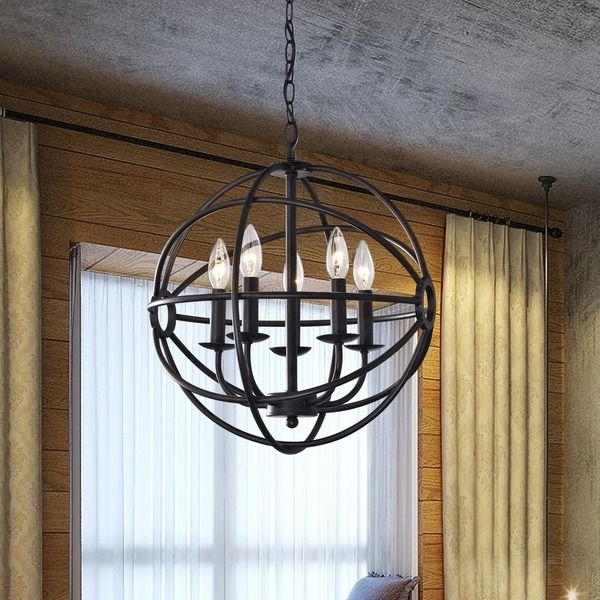 2018 Metal Chandeliers With Make A Statement With This One Of A Kind Globe Chandelier (View 1 of 10)