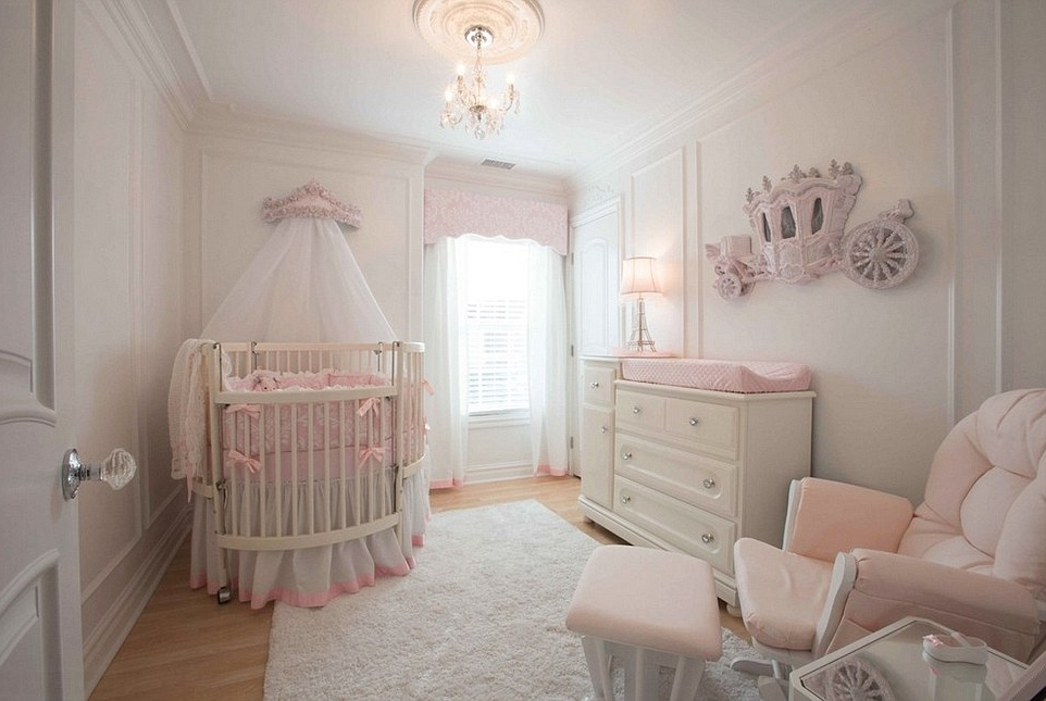2018 Mini Chandeliers For Nursery For A Room Fit For A Princess: The Most Extravagant Girls' Rooms (View 1 of 10)