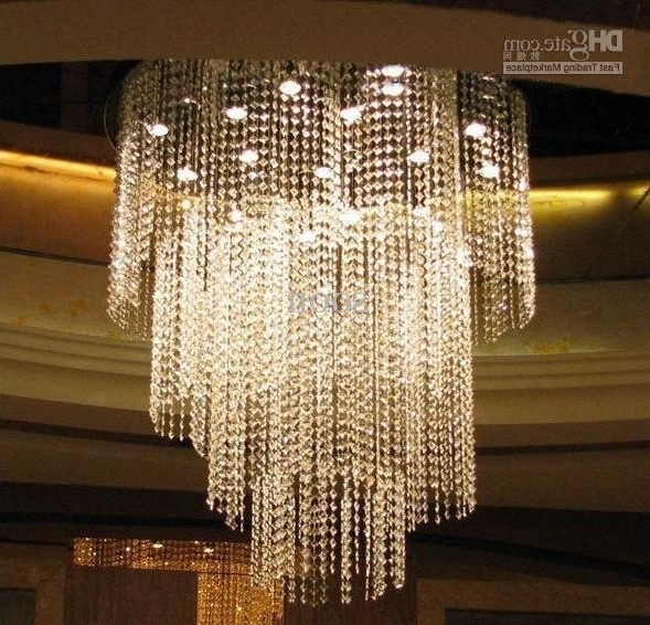 2018 Modern Fashion Luxuriant K9 Crystal Led Chandelier Study Room Throughout Hotel Chandelier (View 1 of 10)