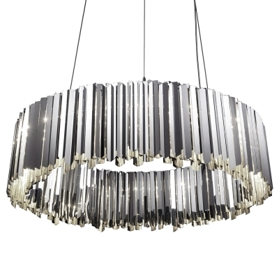 2018 Modern Silver Chandelier With Facet Large Modern Silver Chandelier (View 2 of 10)