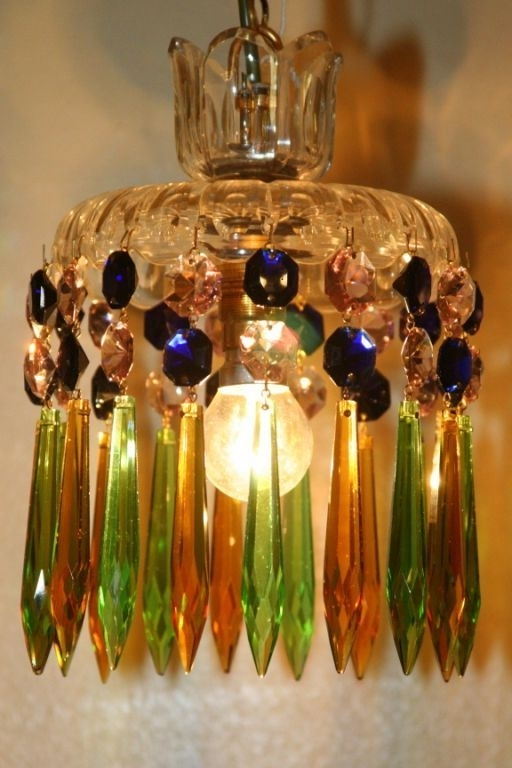 2018 Using Victorian Coloured Glass, This Is A One Off Chandelier That Is Inside Coloured Glass Chandelier (View 1 of 10)
