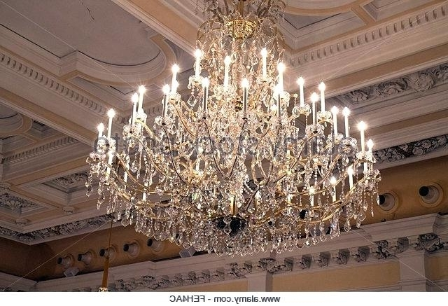 2018 Vienna Crystal Chandeliers For Vienna Full Spectrum Crystal Chandelier Stock Photos Stock Images (View 1 of 10)