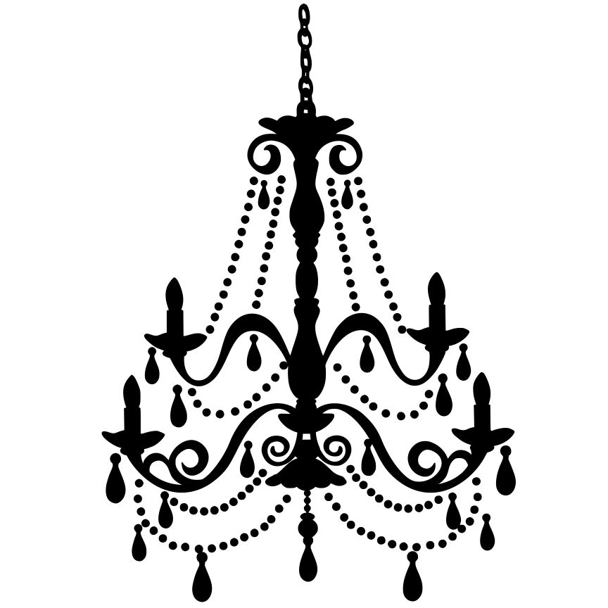 2018 White Chandelier Clip Art Black Clipart Intended For Elegant Home With Regard To Clip On Chandeliers (View 1 of 10)