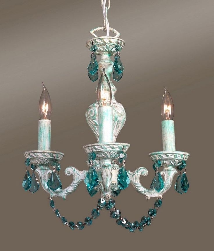 311 Best Chandeliers Images On Pinterest Light Turquoise Chandelier With Regard To Preferred Turquoise Chandelier Crystals (View 1 of 10)