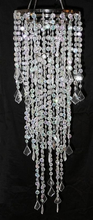 """33"""" Faux Crystal Like Chandelier Party Home Decorations (View 1 of 10)"""