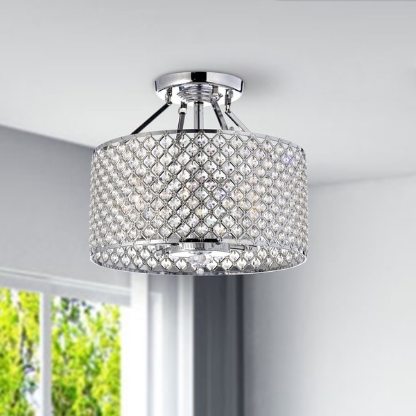 4 Light Chrome Crystal Chandeliers For Most Recently Released Silver Orchid Taylor