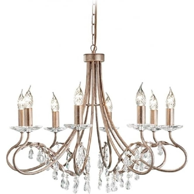 8 Light Edwardian Chandelier With Crystal, Dual Mount Facility With Regard To Most Up To Date Edwardian Chandelier (Gallery 2 of 10)
