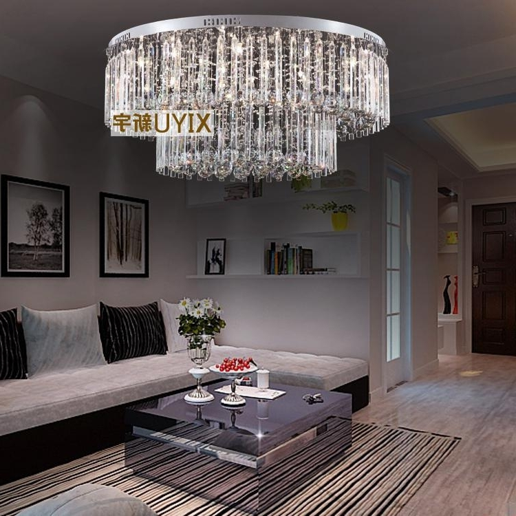 80*33 Cm Crystal Ceiling Lamp Modern Low Voltage Lights Round The Throughout Best And Newest Low Ceiling Chandeliers (View 1 of 10)