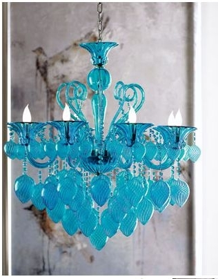 Accessories Intended For Well Liked Turquoise Blown Glass Chandeliers (View 1 of 10)