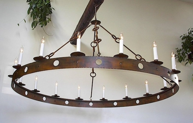 Ace Wrought Iron – Custom Large Wrought Iron Chandeliers Hand Forged Pertaining To Preferred Iron Chandelier (View 2 of 10)