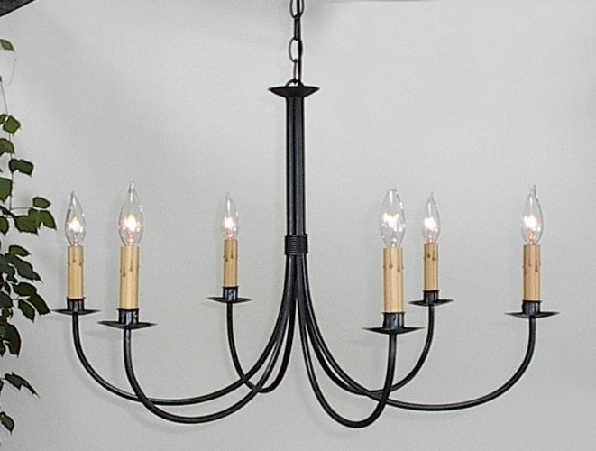 Ace Wrought Iron Plain Six Arm Chandelier Clayton J Bryant Iron Regarding 2017 Wrought Iron Chandeliers (View 1 of 10)