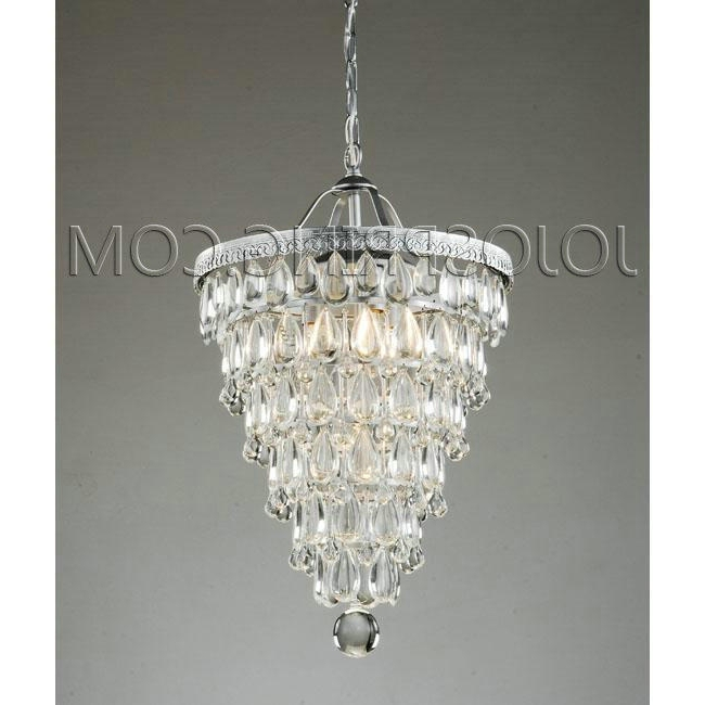Affordable Crystal Chandelier – Modern Chandelier,crystal For For Recent 4 Light Crystal Chandeliers (View 3 of 10)