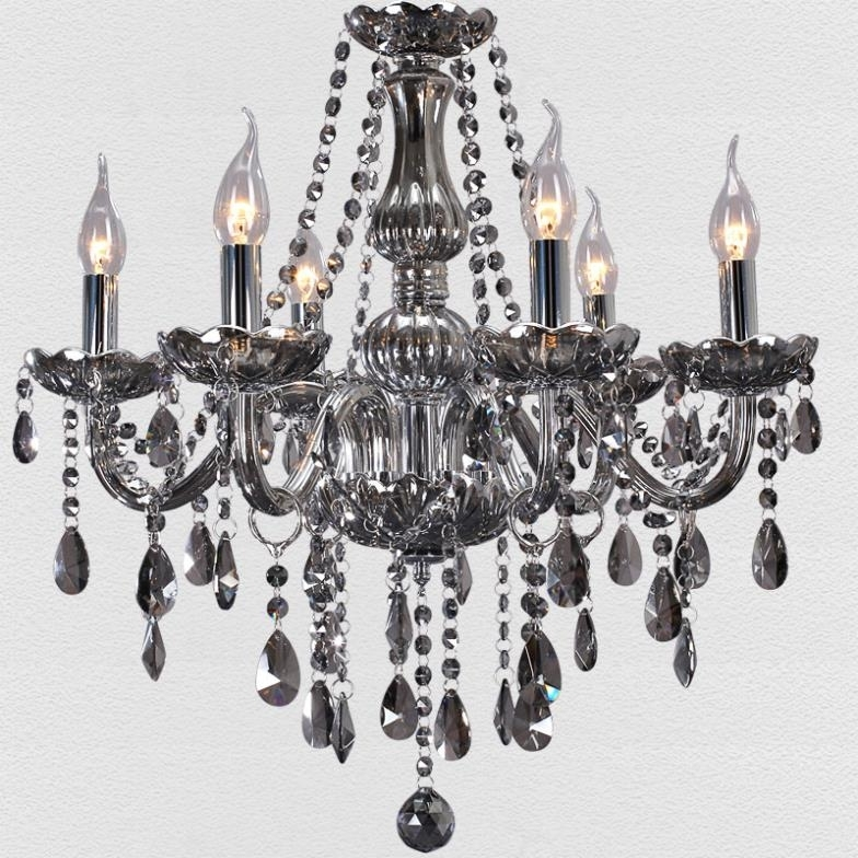 Aliexpress : Buy Free Shipping European Modern Chandelier Smoke Inside Most Recently Released Grey Crystal Chandelier (View 2 of 10)