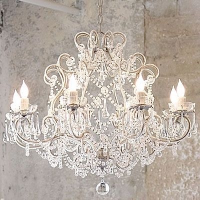 Amazing French Provincial Glass Crystal Chandelier Large 8 Light With Trendy Large Cream Chandelier (View 1 of 10)