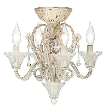 Amazon: Pull Chain Crystal Bead Candelabra Ceiling Fan Light Kit Throughout Current Chandelier Light Fixture For Ceiling Fan (View 1 of 10)