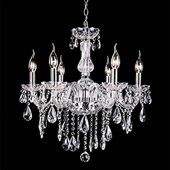 Amazon: Wakrays Crystal Lamp Fixture Pendant Light Ceiling Chain Within Famous Candle Chandelier (View 3 of 10)