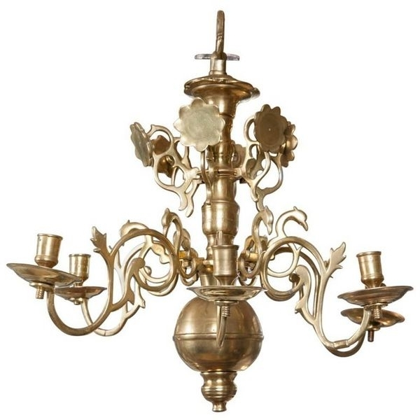 Antique Brass Chandeliers – The Uk's Premier Antiques Portal In Famous Brass Chandeliers (View 2 of 10)