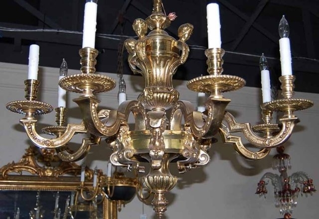 Antique Chandeliers For Sale French Antique Bronze Chandelier Circa With Recent French Bronze Chandelier (View 1 of 10)