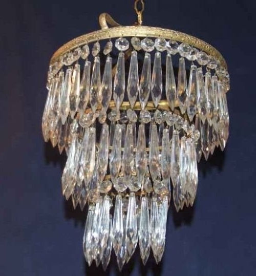 "Antique Edwardian 3 Tier ""icicle"" Chandelier (View 2 of 10)"