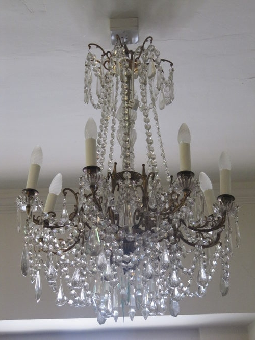 Antique French Chandeliers For Most Current Antiques Atlas A French Chandelier Antique French Chandelier – Flc (View 2 of 10)