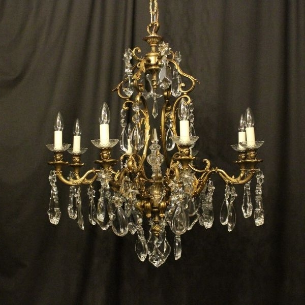Antique French Chandeliers – The Uk's Premier Antiques Portal Intended For Most Up To Date French Chandeliers (View 1 of 10)