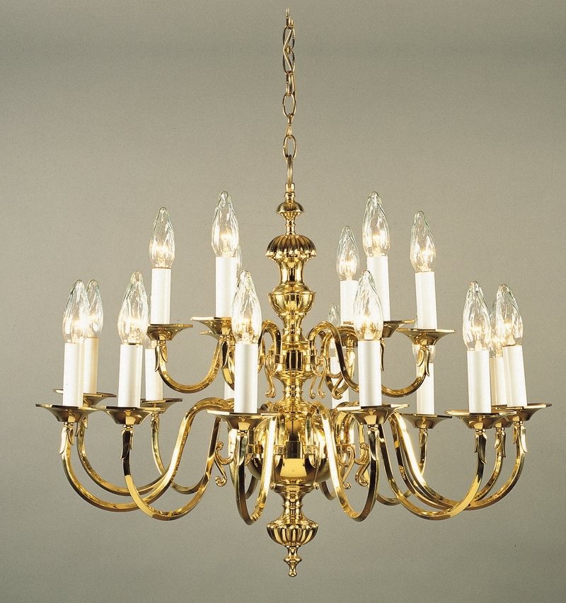 Antique Pertaining To Well Liked Traditional Brass Chandeliers (View 1 of 10)