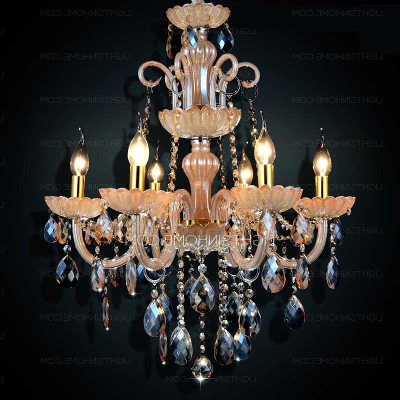 Antique Style Chandeliers With Well Liked 6 Lights Antique Style For Living Room Crystal Chandeliers Wholesale (View 6 of 10)