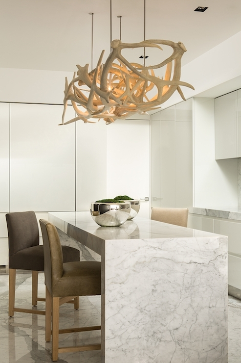 Antler Chandelier – Contemporary – Kitchen – Michael Dawkins Home With Regard To Best And Newest Modern Antler Chandelier (View 1 of 10)