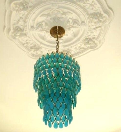 Aqua Chandelier Turquoise Chandelier Aqua Colored Chandelier Intended For Favorite Turquoise Chandelier Crystals (View 2 of 10)