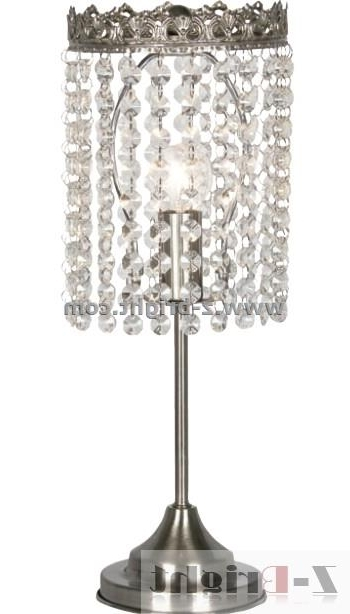 Attractive Chandelier Table Lamp Cute Within Lamps Design 14 Throughout Trendy Small Crystal Chandelier Table Lamps (View 1 of 10)