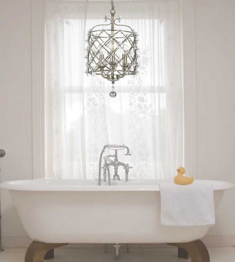 Awesome Bathroom Chandeliers Design Ideas To Complete Your Dream For Latest Mini Chandelier Bathroom Lighting (Gallery 1 of 10)