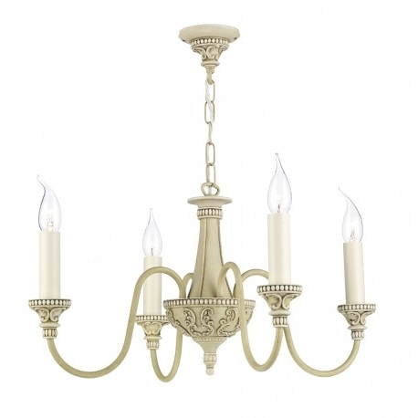 Bailey 4 Light Chandelier Antique Cream David Hunt – Beardsmore Lighting For Best And Newest Cream Chandelier (View 2 of 10)