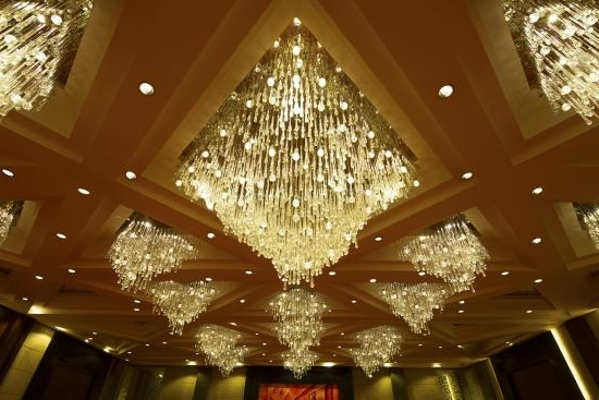 Ballroom Chandeliers For Trendy Grand Plaza Ballroom Chandeliers – Picture Of Sofitel Philippine (View 2 of 10)