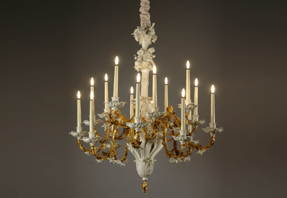 Baroque Chandelierporzellan Manufaktur Nymphenburg (View 3 of 10)