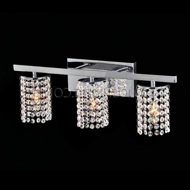 Bathroom Chandelier Wall Lights In Most Recent Wall Lights Design Cheap Crystal Sconce Lighting Bathroom In (View 3 of 10)