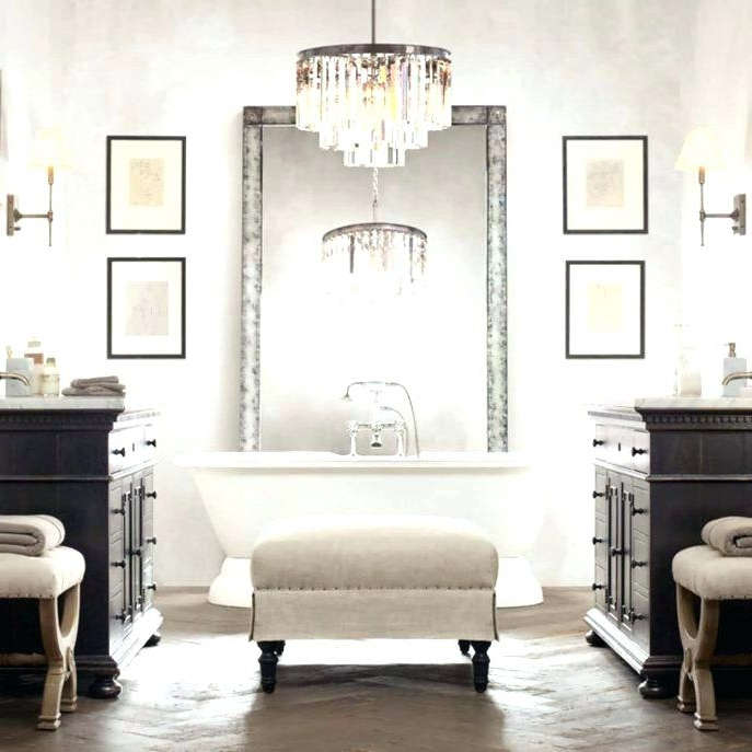 Bathroom Chandeliers Sale Within Well Known Bathroom Chandelier Together With Bathroom Chandelier Lighting (View 3 of 10)