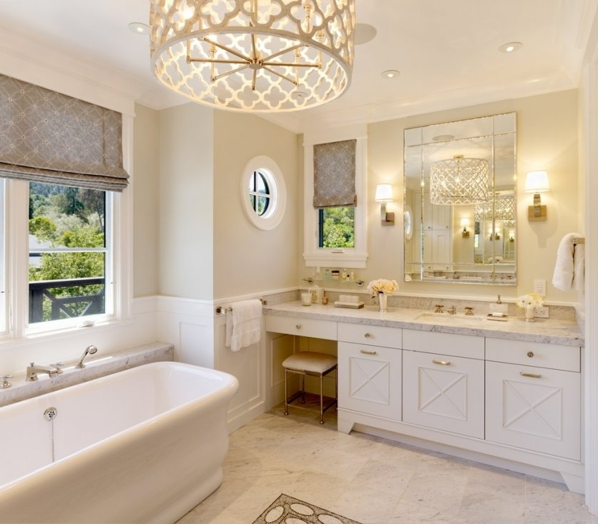 Bathroom Lighting With Matching Chandeliers With Preferred Bathroom Light Fixtures Chandeliers (View 4 of 10)