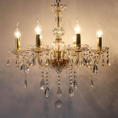 Best And Newest Bedroom 6 Arms Mini Led Candle Chandelier Light Modern Crystal With Led Candle Chandeliers (View 2 of 10)
